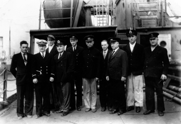 ship's crew on deck picture
